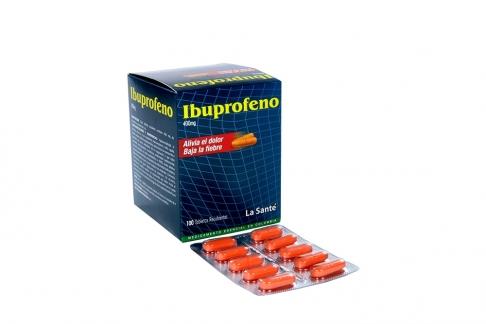 Ibuprofeno 400 mg Caja Con 100 Tabletas Recubiertas - Baja La Fiebre