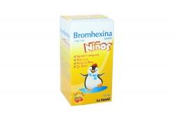 Bromhexina 4 mg / 5 mL Niños Jarabe Caja Con Frasco Con 120 mL - Sabor Fresa