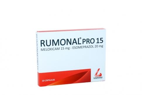 Rumonal Pro 15 / 20 mg Caja Con 10 Cápsulas Rx