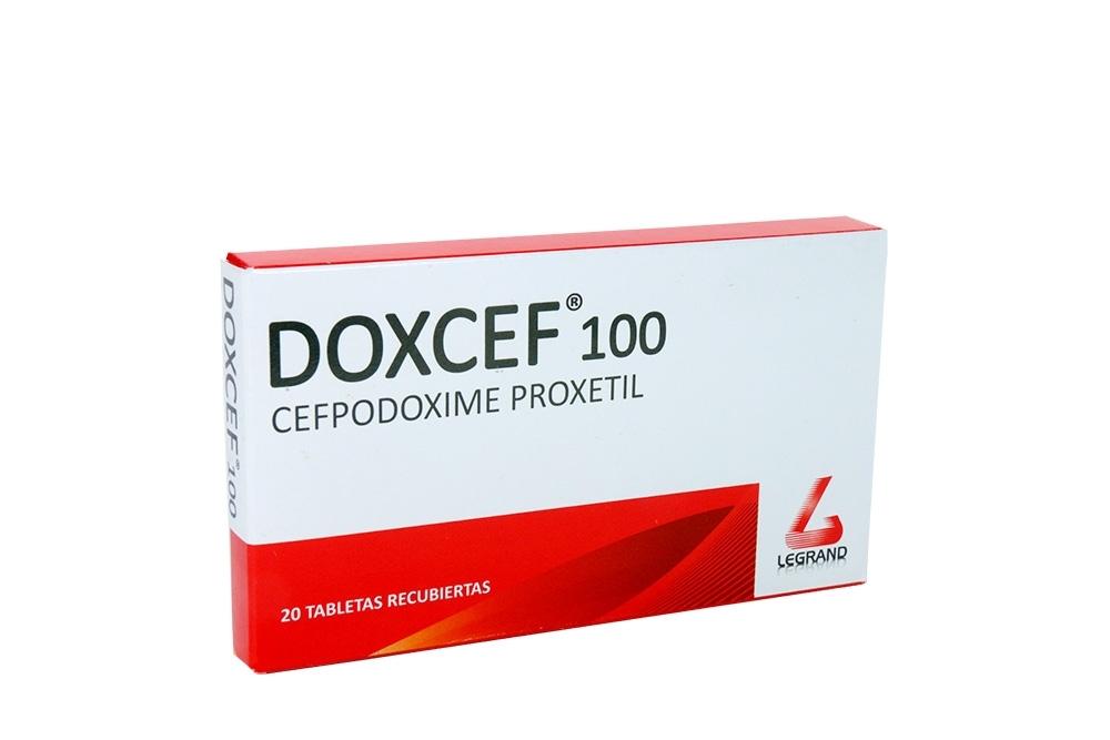 Doxcef 100 mg Caja Con 20 Tabletas Recubiertas Rx2