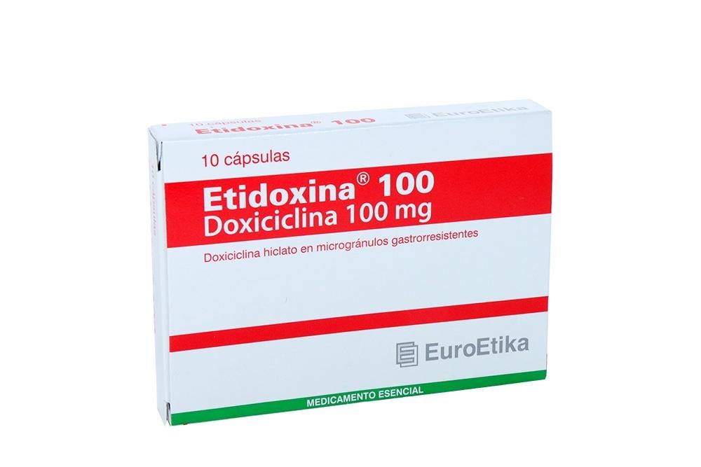 Etidoxina 100 mg Caja Con 10 Cápsulas Rx2