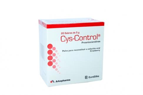 Cys-Control Polvo Para Reconstituir Caja Con 20 Sobres Con 5 g C/U