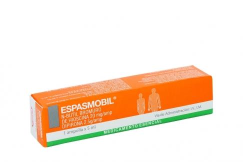 Espasmobil Solución Inyectable Caja Con Ampolla Con 5 mL Rx