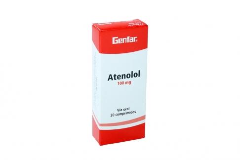 Atenolol 100 mg Caja Con 20 Comprimidos Rx4