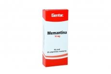 Memantina 10 mg Caja Con 28 Tabletas Recubiertas Rx4