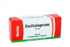 Escitalopram 20 mg Caja Con 30 Comprimidos Recubiertos Rx4