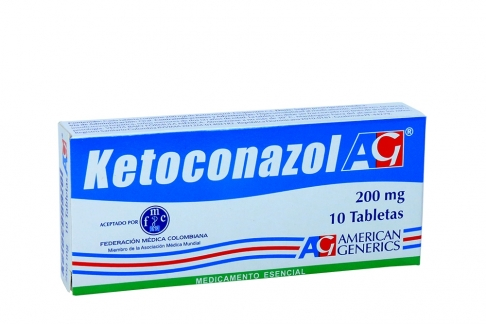 Ketoconazol 200 mg Caja Con 10 Tabletas Rx