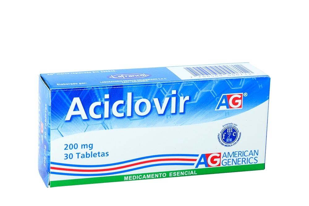 Aciclovir 200 mg Caja Con 30 Tabletas Rx
