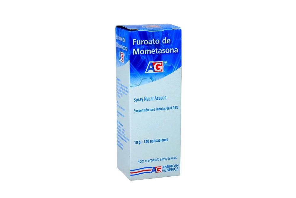 Furoato De Mometasona Spray 0.05 % 18 g Caja Con Frasco Con 140 Aplicaciones Rx