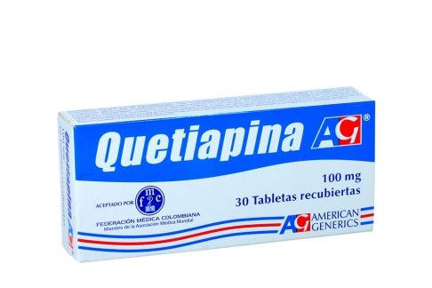 Quetiapina 100 mg Caja Con 30 Tabletas Recubiertas Rx4