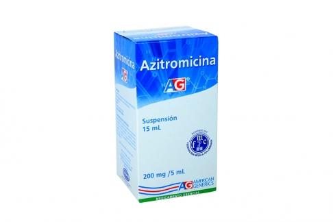 Azitromicina Ag 200 Mg / 5 CC X 15 CC