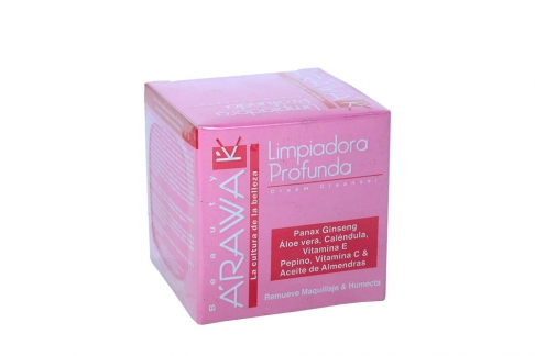 Arawak Crema Limpiadora Profunda Caja Con Frasco Con 50 g