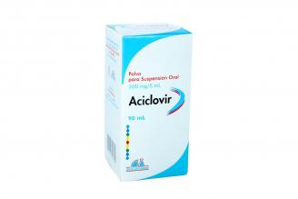 Aciclovir 200 mg / 5 mL Polvo Para Suspensión Oral Caja Con Frasco Con 90 mL Rx