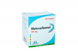 Metocarbamol 750 mg Caja Con 100 Tabletas Rx