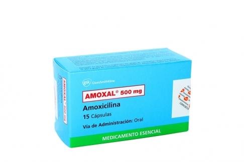 Amoxal 500 mg Caja Con 15 Cápsulas Rx2