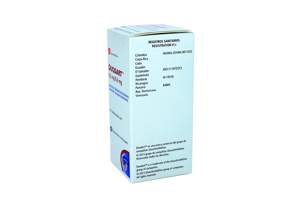 Comprar Duodart 0.5/0.4 mg Con 30 Cápsulas En Farmalisto