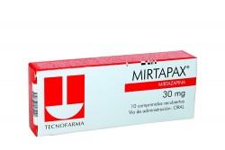 Mirtapax 30 mg Caja Con 10 Comprimidos Recubiertos Rx4