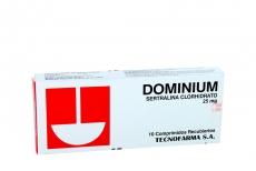 Dominium 25 mg Caja Con 10 Comprimidos Recubiertos Rx4
