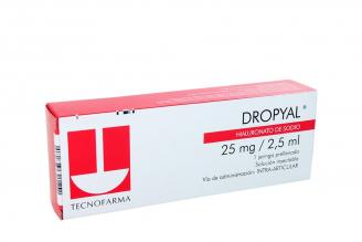 Dropyal 25 mg Solución Inyectable Caja Con 1 Jeringa Prellenada Rx4