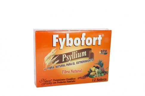 Fybofort Psyllium Fibra Natural Caja Con 12 Sobres