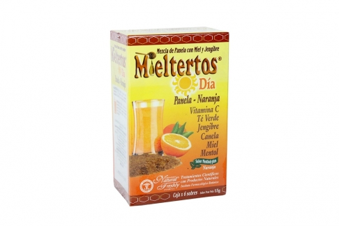 Mieltertos Día Panela Naranja Caja Con 6 Sobres Con 15 g C/U