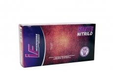 Guante Nitrilo Color Lila Talla M 7 1/2 Caja Con  100 Pares