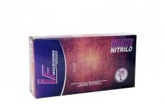 Guante Nitrilo Color Lila Talla L 8 1/2 Caja Con  100 Pares