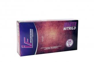 Guante Nitrilo Color Lila Talla L (8½) Caja Con 100 Unidades