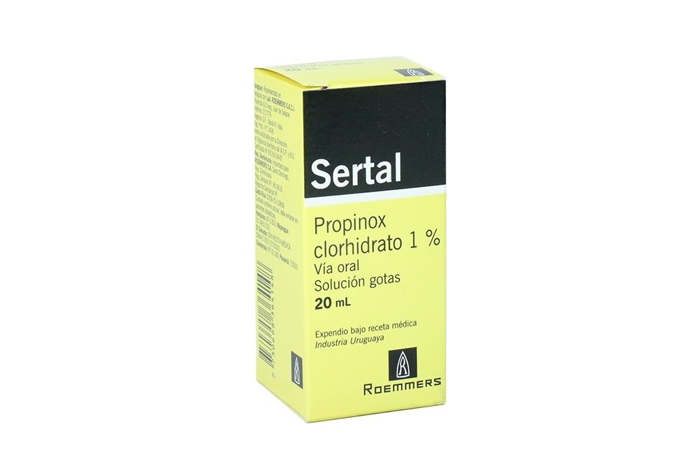 Sertal 1 % Solución En Gotas Caja Con Frasco Con 20 mL Rx