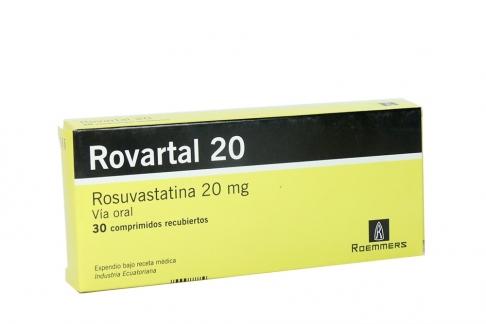 Rovartal 20 mg Caja Con 30 Comprimidos Recubiertos Rx