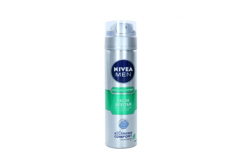 Gel Para Afeitar Nivea Men Extreme Confort Frasco Con 200 mL