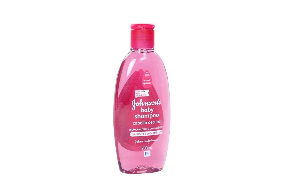 Shampoo Johnson's Baby Cabello Oscuro Frasco Con 200 mL