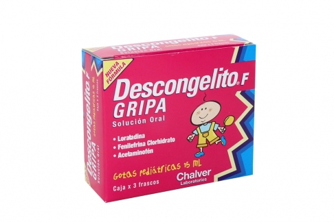 Descongelito F Gripa Gotas Empaque Con 3 Frascos Con 15 mL C/U Rx