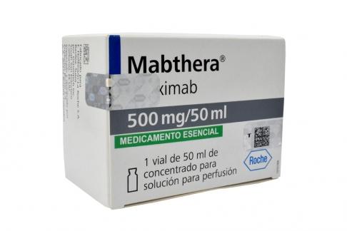 Mabthera 500 mg Solución Para Perfusión Caja Con Ampolla Con 50 mL Rx1 RX4 RX3