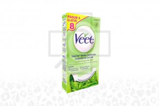 Bandas Depilatorias Veet Con Aloe Vera Caja Con 12 Unidades –Para Piel Seca
