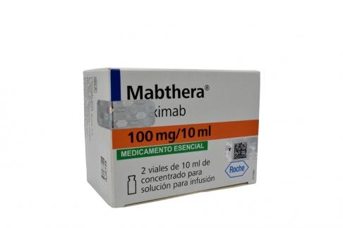 Mabthera 100 mg / 10 mL Caja Con 2 Viales Con 10 mL - Solución Para Infusión Rx1 RX4 RX3