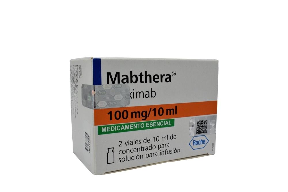 Mabthera 100 mg / 10 mL Solución Para Infusión Caja Con 2 Viales Con 10 mL C/U Rx1 Rx4 Rx3