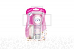 Veet Crema Depilatoria Ducha Empaque Con Frasco Con 100 mL – Piel Normal