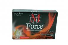 Gel Lubricante M Force Esencias Sensuales Caja Con 2 Tubos Con 10 g C/U