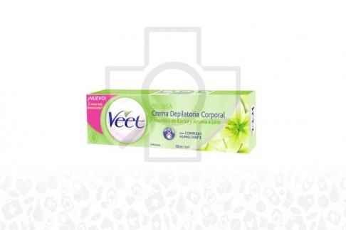 Veet Crema Depilatoria Corporal Caja Con Frasco Con 100 mL - Piel Seca