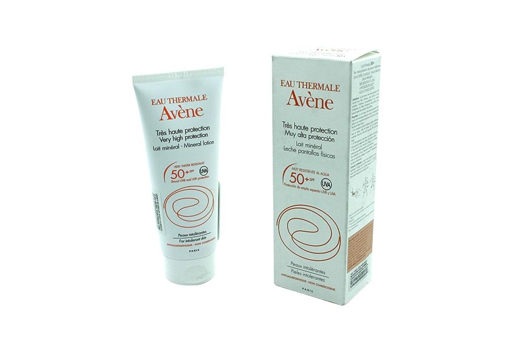 Eau Thermale Avène Crema Resistente Al Agua SPF 50+ Caja Con Frasco Con 100 mL