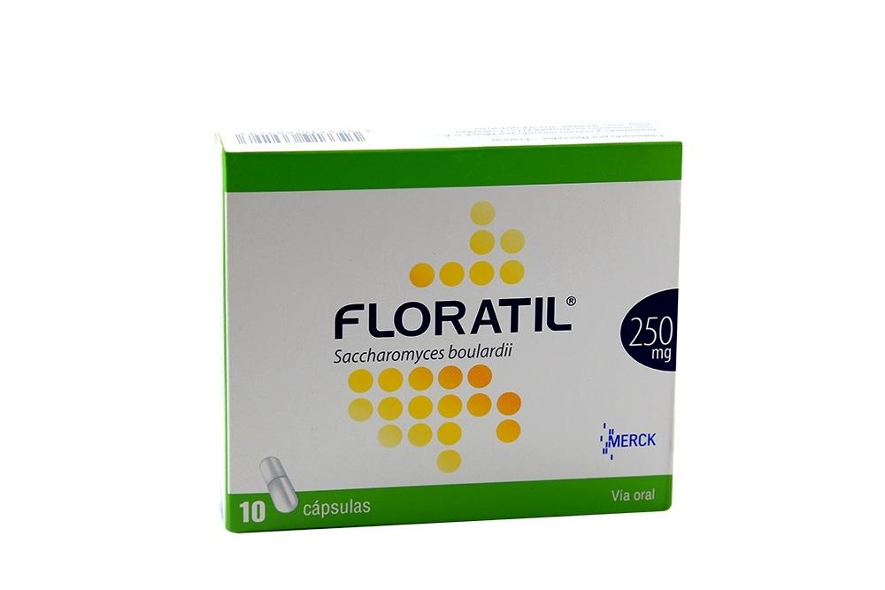 Floratil 250 mg Caja Con 10 Cápsulas