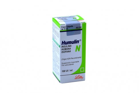 Humulin N 100 U.I Frasco Vial De 10 mL Suspensión Rx3