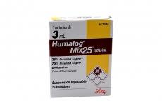 Humalog Mix Suspensión Inyectable 100 U.I / mL Caja Con 5 Cartuchos De 3 mL Rx3 Rx4 RX1