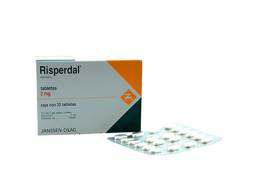Risperdal 2 mg Caja Con 20 Tabletas Rx4  Rx1