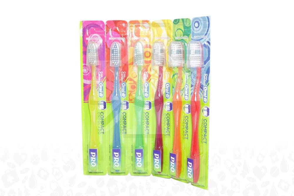 Cepillo Dental Oral B Compact Ondulado Empaque Con 6 Unidades