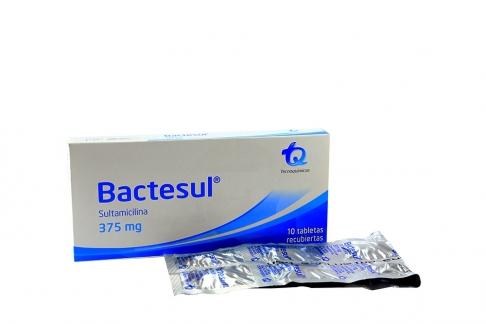 Bactesul 375 mg Caja Con 10 Tabletas Rx2