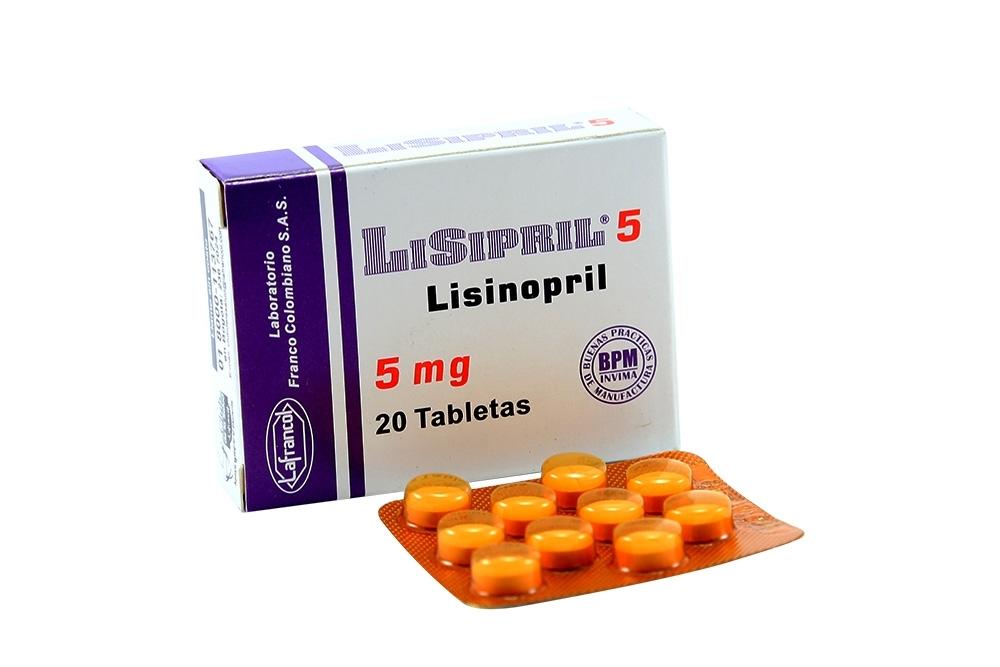 Lisipril 5 mg Caja Con 20 Tabletas Rx