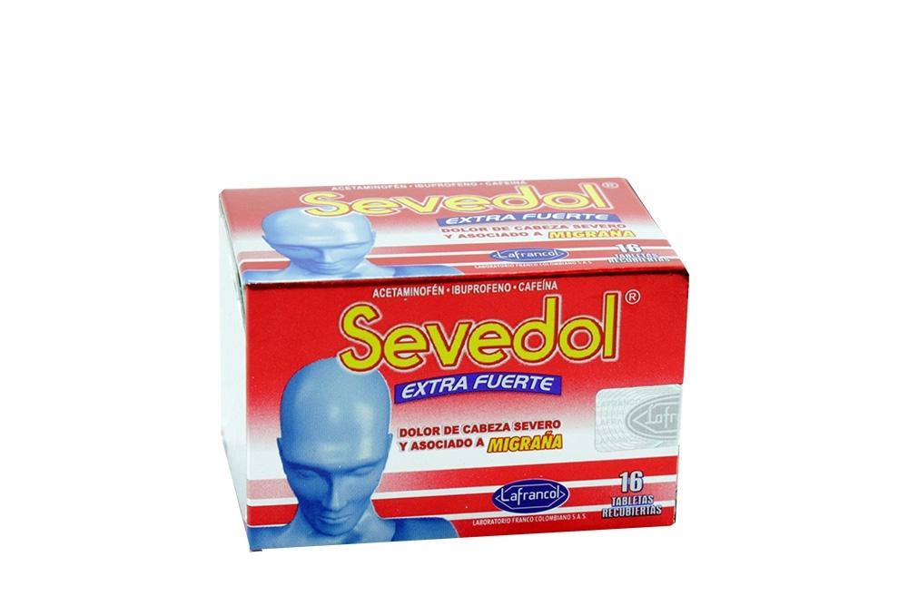 Sevedol  Extra Fuerte 250 / 400 / 65 mg Caja Con 16 Tabletas