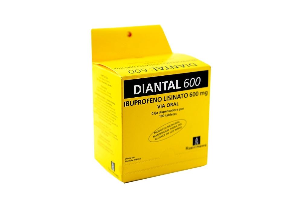 Diantal 600 mg Caja Con 100 Tabletas Rx